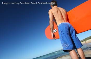 surfing at Caloundra, Sunshine Coast