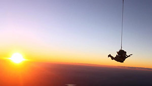 Sunset Skydive over Caloundra